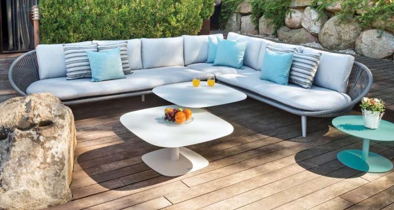 Sofa esterior de esquina Spade de Iniciativa Exterior 3i.
