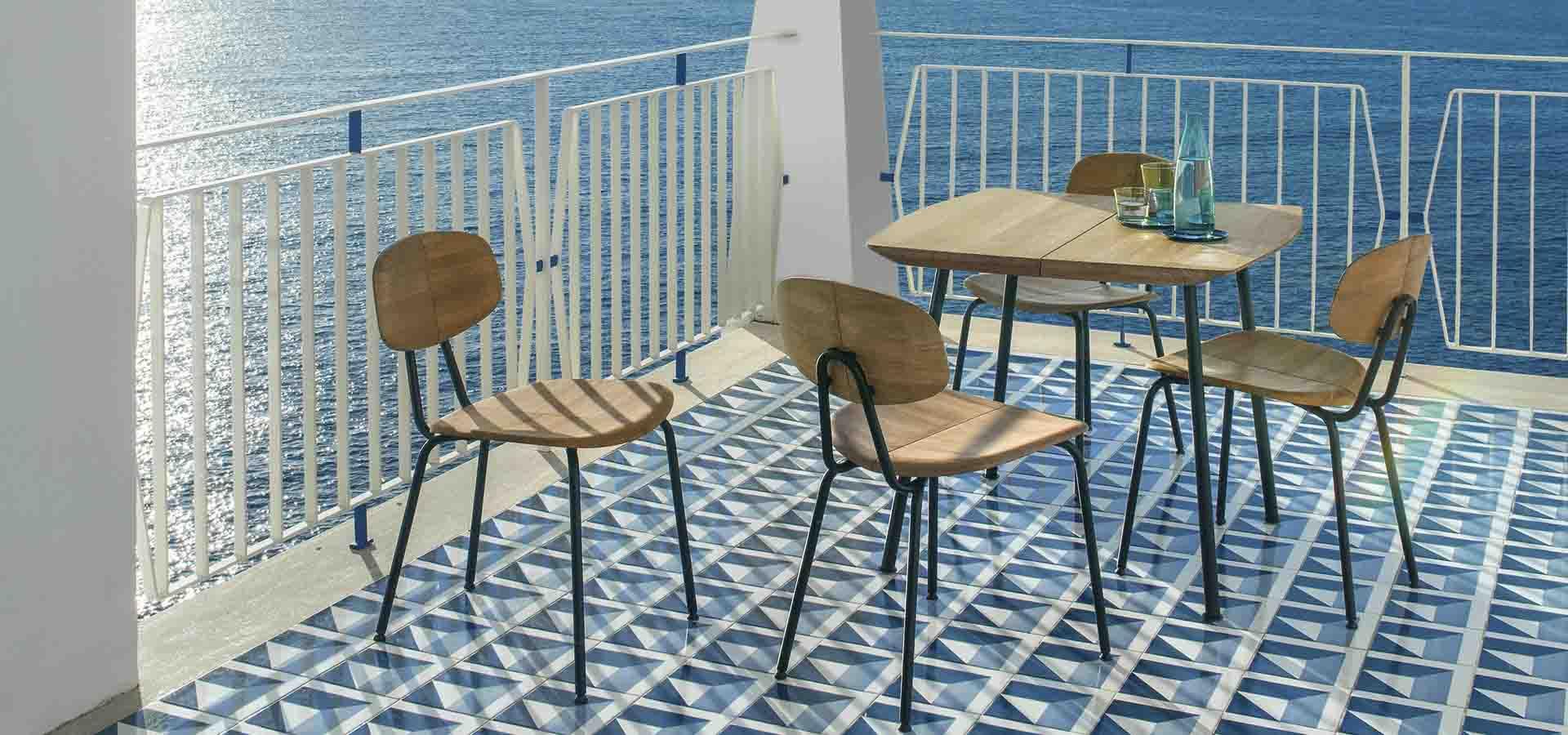 Sillas y mesas de terraza Agave de Ethimo en Mallorca